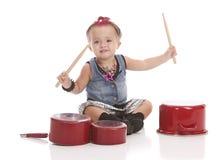 Piccolo batterista Fotografie Stock