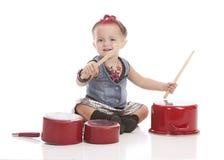Piccolo batterista Fotografia Stock