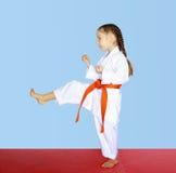 Piccolo battito dell'atleta un il piede diretto di scossa Fotografia Stock Libera da Diritti