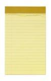 Piccolo blocchetto per appunti allineato giallo Immagini Stock