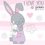 Piccolo Bunny Vector Illustration sveglio Fotografie Stock