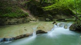 Piccolo canale navigabile, (Frigourg, la Svizzera) Fotografia Stock Libera da Diritti