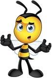 Piccolo carattere dell'ape - confuso illustrazione di stock