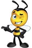 Piccolo carattere dell'ape - indicando illustrazione di stock