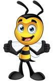 Piccolo carattere dell'ape - mani sulle anche illustrazione di stock