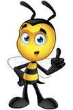 Piccolo carattere dell'ape - pensando illustrazione vettoriale
