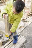 Piccolo carpentiere Fotografie Stock