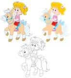 Piccolo cavaliere Immagine Stock