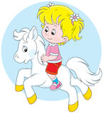Piccolo cavaliere Fotografia Stock Libera da Diritti