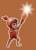 Piccolo cavaliere del guerriero illustrazione di stock