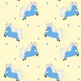 Piccolo cavallo blu Immagini Stock Libere da Diritti