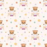 Piccolo cibo di Teddy Bear Immagini Stock