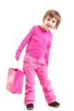 Piccolo cliente nel colore rosa fotografia stock