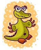 Piccolo coccodrillo verde Immagini Stock