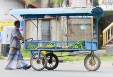Piccolo commerciante asiatico tradizionale della via Fotografia Stock