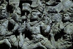 Piccolo complesso del tempio di Mendut, isola di Java, Indonesia immagine stock