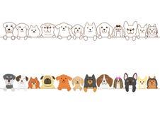 Piccolo confine dei cani illustrazione di stock