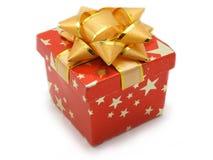Piccolo contenitore di regalo rosso Fotografie Stock