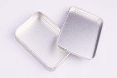 Piccolo contenitore vuoto di metallo Fotografia Stock