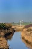 Piccolo corso d'acqua in campagna nella caduta Fotografia Stock Libera da Diritti