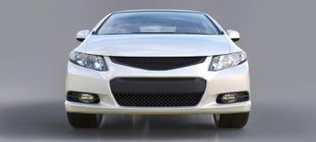 Piccolo coupé bianco dell'automobile sportiva rappresentazione 3d illustrazione di stock