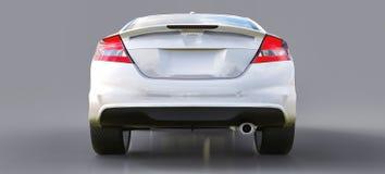 Piccolo coupé bianco dell'automobile sportiva rappresentazione 3d royalty illustrazione gratis