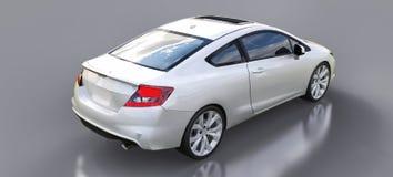 Piccolo coupé bianco dell'automobile sportiva rappresentazione 3d illustrazione vettoriale