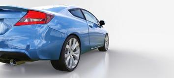 Piccolo coupé blu dell'automobile sportiva rappresentazione 3d illustrazione vettoriale