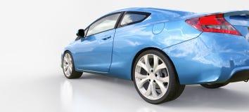 Piccolo coupé blu dell'automobile sportiva rappresentazione 3d royalty illustrazione gratis
