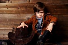 Piccolo cowboy Fotografie Stock