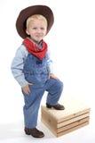 Piccolo cowboy più sveglio Fotografia Stock