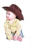Piccolo cowboy sveglio Fotografia Stock Libera da Diritti