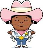 Piccolo cowgirl felice royalty illustrazione gratis
