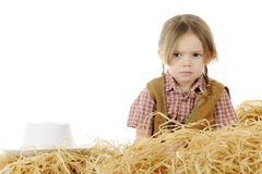 Piccolo cowgirl turbato Fotografia Stock Libera da Diritti