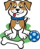 Piccolo cucciolo felice illustrazione di stock