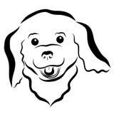 Piccolo cucciolo lanuginoso allegro, testa illustrazione di stock