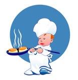Piccolo cuoco felice Fotografie Stock