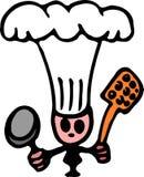 Piccolo cuoco unico e le sue pentole royalty illustrazione gratis