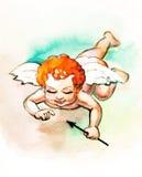 Piccolo cupid con la freccia Fotografia Stock Libera da Diritti