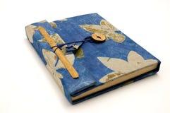Piccolo diario blu Fotografie Stock Libere da Diritti