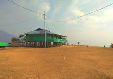 Piccolo Drukpa villaggio di Lepchakha su un alloggio presso famiglie di Dooars della sommità Fotografia Stock Libera da Diritti