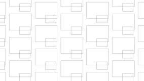 Piccolo e grande modello monocromatico astratto moderno semplice dei blocchi Immagine Stock