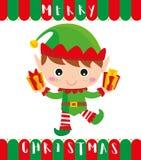 Piccolo elfo vi porta i regali immagini stock