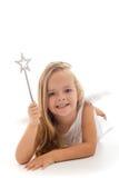 Piccolo fairy con la bacchetta magica Fotografia Stock Libera da Diritti