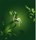 Piccolo fairy nel legno Immagini Stock Libere da Diritti
