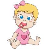 Piccolo fare da baby-sitter sveglio Immagini Stock
