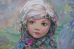 Piccolo fatato, dipingente Fotografie Stock