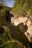 Piccolo fiume in montagne Immagini Stock Libere da Diritti
