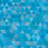 Piccolo fondo blu dei triangoli fotografie stock libere da diritti