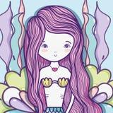 Piccolo fumetto di arte della sirena royalty illustrazione gratis